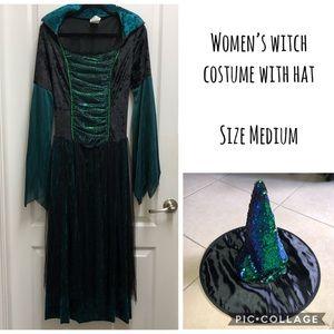 Women's witch costume size medium